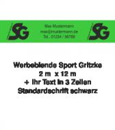 Tennisblende SG Logo + Ihr Text