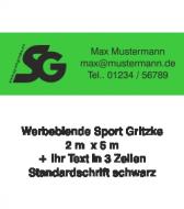 Tennisblende SG Logo + Ihr Text  2m x 6m